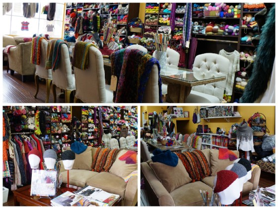 Knitting Place Store Collage
