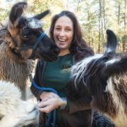 Tabbethia and llamas Gale Zucker photo