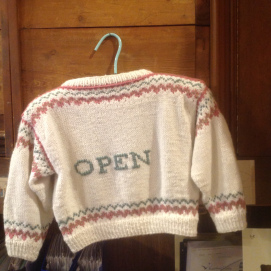 open sweater